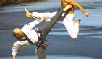 Master Oien kicking
